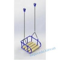 Детская люлька на цепях с деревянным сидением