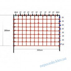 Сетка гладиаторская для лазанья 200x300 см S-Hook на детскую площадку
