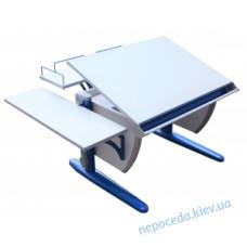 Стол-парта детская ДЕМІ СУТ.14-02 серый/синий