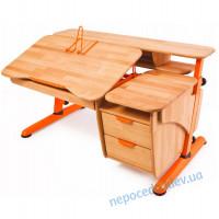 """Детский письменный стол """"Эргономик с тумбой"""" деревянный"""