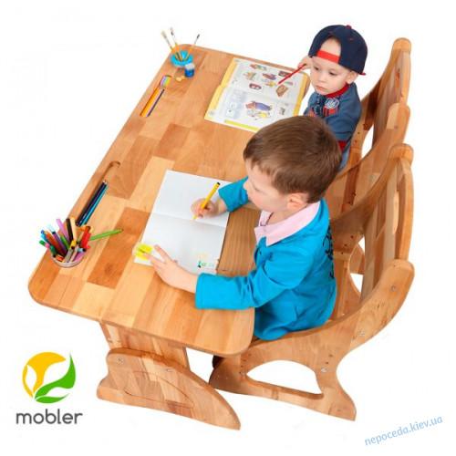 Детская парта растишка без ящика Mobler, 120 см (p112 )