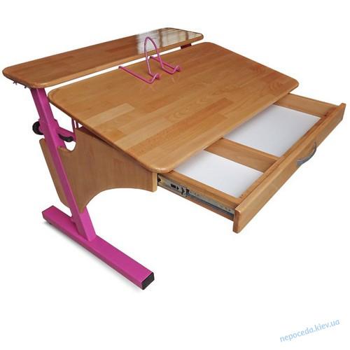 Парта стол растишка с 2 полками (серый)