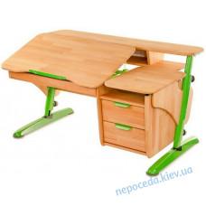 Письмовий парта стіл з полками Ергономічний (дерево)