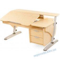 Парта стіл регульований Ергономік клен з тумбою