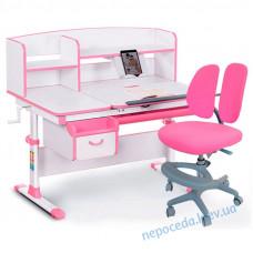Комплект парта и кресло Evo-kids Evo-50 PN + Y-408 KP New розовый