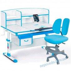 Комплект парта и кресло Evo-kids Evo-50 BL + Y-408 KBL синий