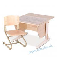 Стол письменный детский натуральное дерево со стулом