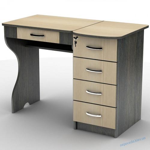 Письменный стол с тумбой, с наклоном (цвет разный)