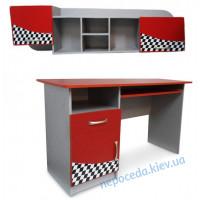 Письменный стол с полкой для школьника ( с тумбой)