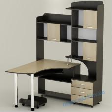 Комп'ютерний стіл СК-18 з надбудовою ящиками і полицями