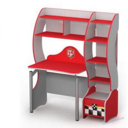 Детский письменный стол с полками Тачки