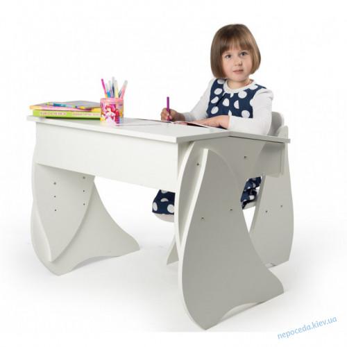 Набор: стул и парта регулируемые Соня (белый)