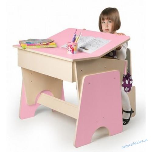Парта регулируемая со стульчиком Соня розовая