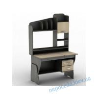 """Компьютерный стол """"СУ-20"""" надстройкой и ящиками"""