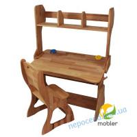 Комплект парта (ширина 90см) с надстройкой и стулом