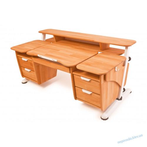 """Детский стол """"Эргономик с двумя тумбами"""" буковый"""