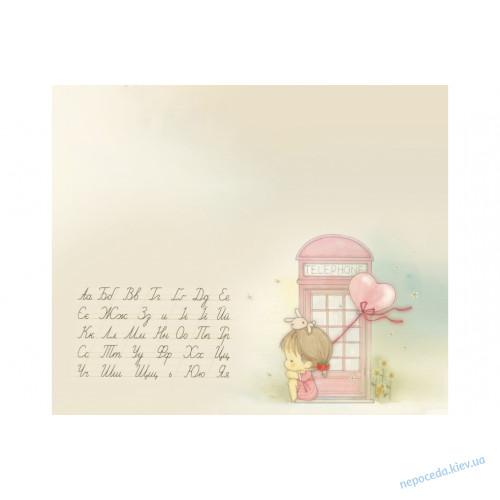Детская парта с надстройкой со стульчиком (рисунок телефонная будка)