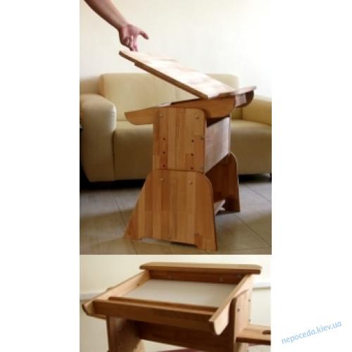 Парта с пеналом, полочками-надстройками + стул