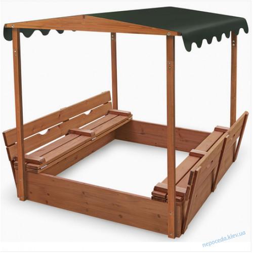 """Песочница с крышкой для детей """"Артемон"""" 145см с навесом"""