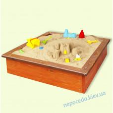"""Песочница 120см """"Петрик"""" из натурального дерева с бортиками"""