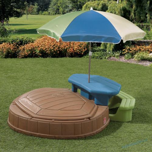 Песочница со столиком и зонтом