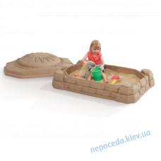 Детская песочница Забава с крышкой