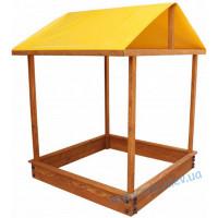 Детская деревянная песочница с крышей и скамейками Теремок