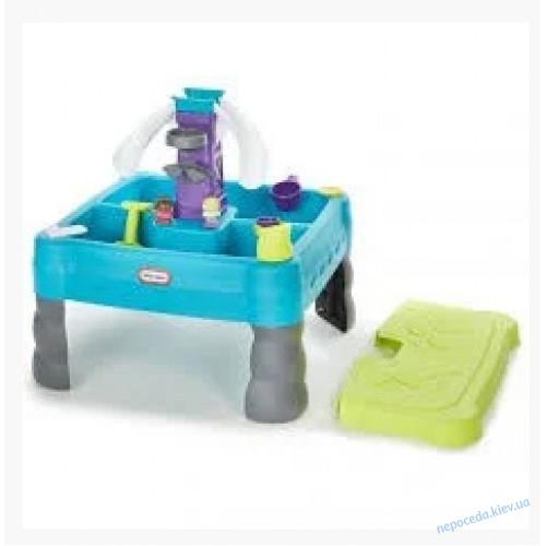 Детский игровой Водный стол - песочница с крышкой little tikes 641213
