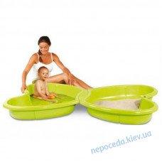 Песочница-бассейн Smoby с крышкой, из пластика