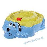 """Песочница- бассейн голубая """"Собачка"""" с крышкой"""
