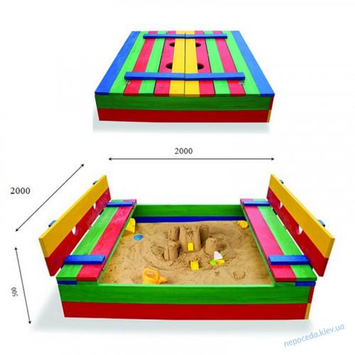 Дитяча пісочниця розмір 200х200см (велика)