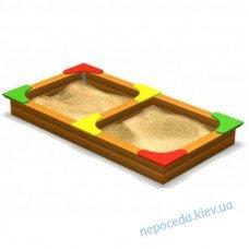 Песочница двойная на улицу