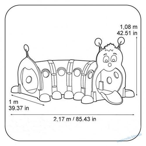 Игровой туннель Гусеница пластиковый 218см