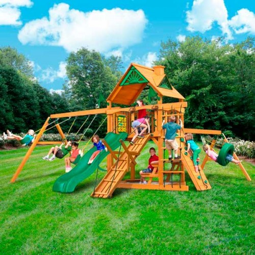 Детская игровая площадка для улицы LUX15 с мостиком
