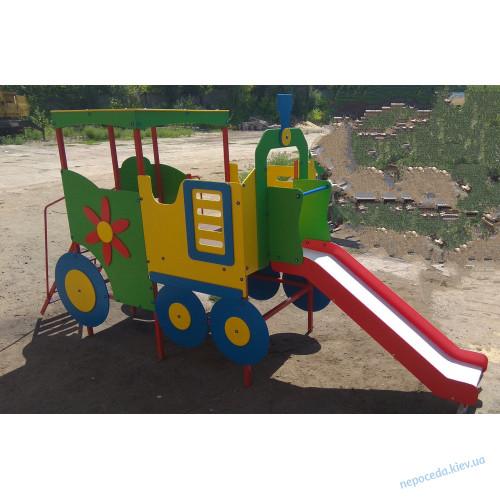 Площадка детская Паровоз с горкой
