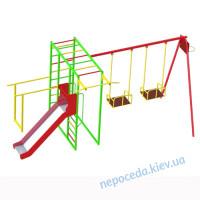 """Детский спортивно игровой комплекс для улицы """"Титан"""" + горка + качели"""