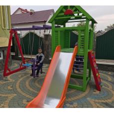 """""""Кактус"""" детская игровая площадка для улицы спортивно-игровая + песочница"""
