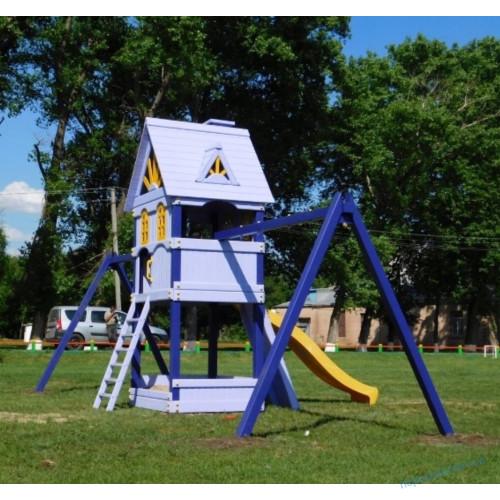 """Детская площадка """"Черничный Замок"""" + 2 модуля под Качели для улицы"""