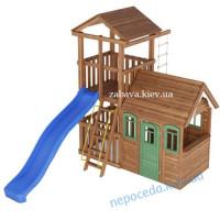 Ігровий майданчик для дітей + Будиночок з дерева