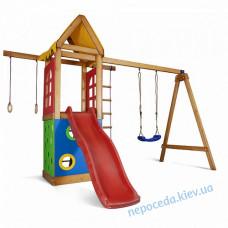 Детский игровой комплекс уличный Башня-25 из дерева