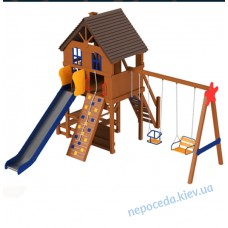 """Детская площадка из дерева """"Дача"""" усиленный уличная"""