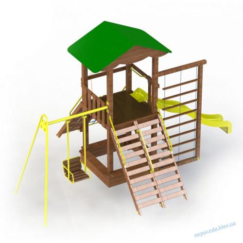 Детская уличная площадка из дерева Ранчо-комби DIO1002.2