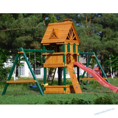 Детская площадка Laura (Лаура) с двойными качелями (металлические ножки)