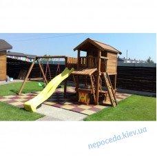 """Игровой комплекс """"Витольд"""" деревянный на дачу для детей"""