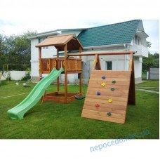"""Игровой деревянный комплекс """"Вилланд"""" с горкой на детскую площадку"""