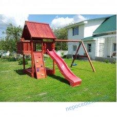 """Игровой детский комплекс """"Бруно плац"""" уличный с домиком из дерева"""