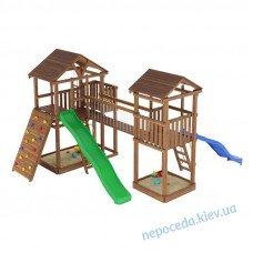 Ігровий майданчик з пісочницею 2 гірками і містком на вулицю Leaf 9