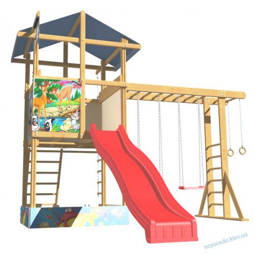 """Детский игровой комплекс """"4 Элемента"""" с песочницей и рукоходом"""