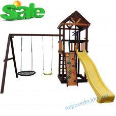 """Дитячий майданчик вежа з гіркою і 2 гойдалки """"Кружечок"""""""