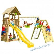 Детская площадка belvedere + challenge со скалодромом